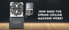 How does the spring coiling machine work?