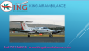 Skilled Staff Anytime Availability Service by King Air Ambulance from Ranchi and Kolkata